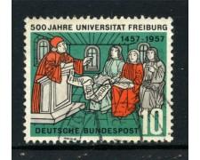 1957 - GERMANIA FEDERALE - 10p. UNIVERSITA' DI FRIBURGO - USATO - LOTTO/30811U