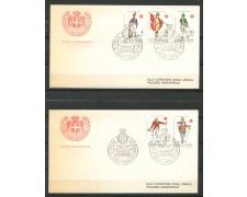 1971 - SOVRANO MILITARE DI MALTA - ANTICHE UNIFORMI - 2 BUSTE FDC - LOTTO/30401