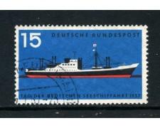 1957 - GERMANIA FEDERALE - 15p- GIORNATA DELLA MARINA - USATO - LOTTO/30812U