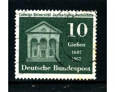 1957 - GERMANIA FEDERALE - 10p. SCUOLA J. LIEBIG - USATO - LOTTO/30813U