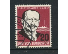 1957 - GERMANIA FEDERALE - 20p. ALBERT BALLIN - USATO - LOTTO/30814U