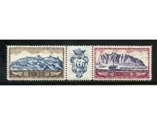 1958 - SAN MARINO  POSTA AEREA MONTE TITANO 2v. - NUOVI - LOTTO/31639
