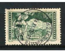 1930/31 - SVIZZERA - 10 Fr. VEDUTE - USATO - LOTTO/LBF2872
