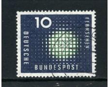 1957 - GERMANIA -  10p. PROPAGANDA PER LA TELEVISIONE - USATO - LOTTO/30815U