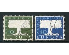1957 - GERMANIA FEDERALE - EUROPA 2v - USATI - LOTTO/30816