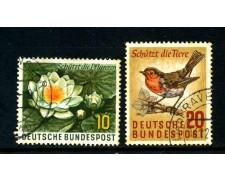 1957 - GERMANIA FEDERALE - PROTEZIONE FLORA E FAUNA 2v. - USATI - LOTTO/30817U