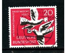 1957 - GERMANIA FEDERALE -  20p. SETTIMANA DELLA LETTERA - USATO - LOTTO/30818U