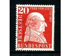 1957 - GERMANIA FEDERALE - 20p. FRH VON STEIN - USATO - LOTTO/30819U
