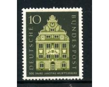 1957 - GERMANIA FEDERALE - 10p. DIETA DI WURTTEMBERG - NUOVO - LOTTO/30820