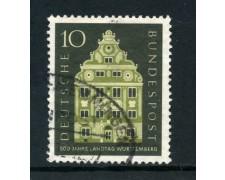 1957 - GERMANIA FEDERALE - 10p. DIETA DI WURTTEMBERG - USATO - LOTTO/30820U