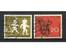 1958 - GERMANIA FEDERALE - WILHELM BUSCH 2v. - USATI - LOTTO/30823U