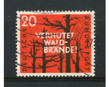 1958 - GERMANIA FEDERALE - 20p. PREVENZIONE INCENDI - USATO - LOTTO/30824U