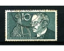 1958 - GERMANIA FEDERALE - 10p. RUDOLF DIESEL - USATO - LOTTO/30825U