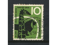 1958 - GERMANIA FEDERALE - 10p. ZOO DI FRANCOFORTE - USATO - LOTTO/30827U
