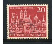 1958 - GERMANIA FEDERALE - 20p. MONACO DI BAVIERA - USATO - LOTTO/30828U