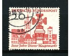 1958 - GERMANIA FEDERALE - 20p. MERCATO DI TREVIRI - USATO - LOTTO/30829U