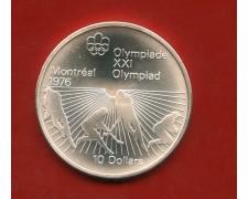 1976 - CANADA OLIMPIADI DI MONTREAL  10$. ARGENTO HOKEY - LOTTO/M31839