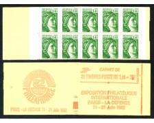1981 - FRANCIA - LIBRETTO PHILEXFRANCE ROSSO DA 20 FRANCOBOLLI NUOVI  DA 1,40 - LOTTO/30633
