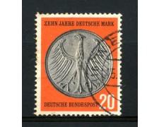 1958 - GERMANIA FEDERALE - 20p. ANNIVERSARIO MARCO TEDESCO - USATO - LOTTO/30830U