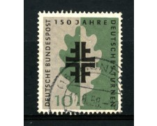 1958 - GERMANIA FEDERALE - 10p. ASSOCIAZIONE GINNASTICA - USATO - LOTTO/30831U