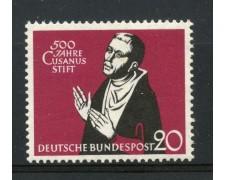 1958 - GERMANIA FEDERALE - 20p.  CARDINAL CUSANO - NUOVO - LOTTO/30834