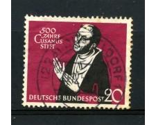 1958 - GERMANIA FEDERALE - 20p. CARDINAL CUSANO - USATO - LOTTO/30834U