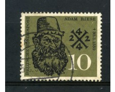 1959 - GERMANIA FEDERALE - 10p. ADAM  RIESE - USATO - LOTTO/30839U