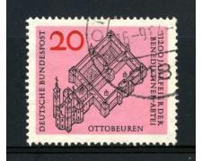 1964 - GERMANIA FEDERALE - 20p. ABBAZIA DI OTTOBEUREN - USATO - LOTTO730880U