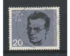 1964 - GERMANIA FEDERALE - 20p. ALFRED DELP - USATO - LOTTO/30881U