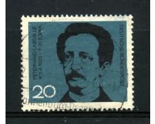1964 - GERMANIA FEDERALE - 20p. FERDINAND LASSALLE - USATO - LOTTO/30884U