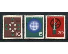 1964 - GERMANIA FEDERALE - PROGRESSI DELLA SCIENZA 3v. - NUOVI - LOTTO/30886