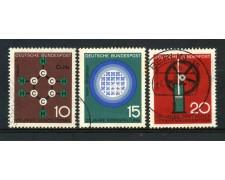 1964 - GERMANIA FEDERALE - PROGRESSI DELLA SCIENZA 3v. - USATI - LOTTO/30886U