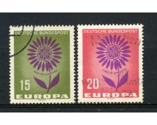 1964 - GERMANIA FEDERALE - EUROPA 2v - USATI - LOTTO/30887U
