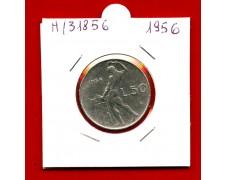 1956 - REPUBBLICA - 50 LIRE  VULCANO I° TIPO - LOTTO/M31856