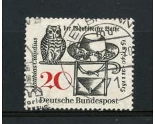 1965 - GERMANIA FEDERALE - 20p. MATTHIAS CLAUDIUS - USATO - LOTTO/30890U