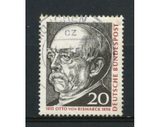 1965 - GERMANIA FEDERALE - 20p. OTTO VON BISMARCK - USATO - LOTTO/30892U