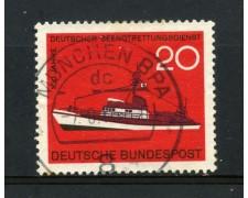 1965 - GERMANIA FEDERALE - 20p. SALVATAGGIO MARITTIMO - USATO - LOTTO/30895U