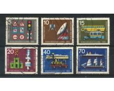 1965 - GERMANIA FEDERALE - ESPOSIZIONE DEI TRASPORTI 6v. - USATI - LOTTO/30896U