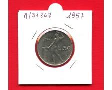 1957 - REPUBBLICA - 50 LIRE VULCANO I° TIPO - LOTTO/M31862