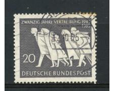 1965 - GERMANIA FEDERALE - 20p. ESPULSIONE DAI TERRITORI ORIENTALI - USATO - LOTTO/30897U