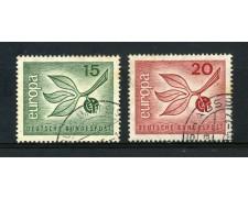 1965 - GERMANIA FEDERALE - EUROPA 2v - USATI - LOTTO/30901U