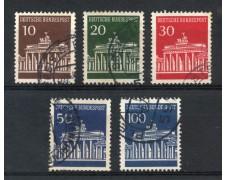 1966 - GERMANIA FEDERALE - PORTA DI BRANDEBURGO 5v. - USATI - LOTTO/30904U