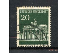 1966/67 - GERMANIA FEDERALE - 20p. BRANDEBURGO CON CIFRA - USATO - LOTTO/30905U