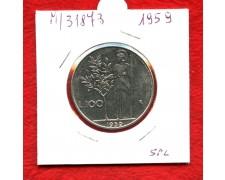 1959 - REPUBBLICA - 100 LIRE MINERVA I° TIPO - LOTTO/M31873