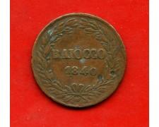1840 - STATO PONTIFICIO -  BAIOCCO PAPA GREGORIO XVI° - LOTTO/M30910
