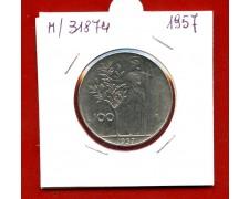 1957 - REPUBBLICA - 100 LIRE MINERVA I° TIPO - LOTTO/M31874