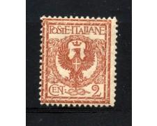 1901 - REGNO - 2 cent. ROSSO BRUNO FLOREALE - NUOVO - LOTTO/30160