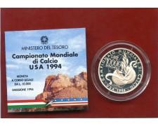 1994 - ITALIA - 10.000 LIRE ARGENTO MONDIALI DI CALCIO USA - ARGENTO FONDO SPECCHIO - LOTTO/M30112