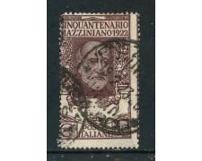 1922 - REGNO - 40c. G.MAZZINI - USATO - LOTTO/REG129U
