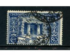 1922 - REGNO - 80c. G.MAZZINI - USATO - LOTTO/REG130U